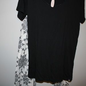 Victoria's Secret XL NWT Pajama Set Black/Cream
